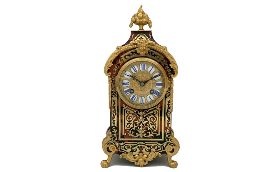 Antique French Boulle Mantel Clock