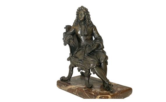 Antique French 19th Century Bronze Nobleman