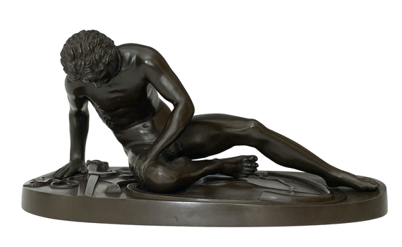 Antique Grand Tour Bronze Figure of The Dying Gaul