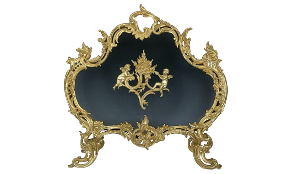 Antique Fire Screen Louis XV Style