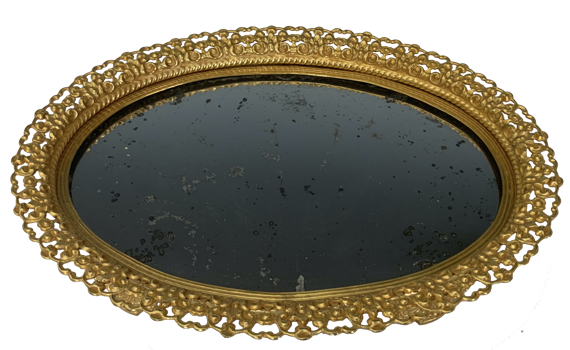 Antique French Ormolu Oval Surtout de Table