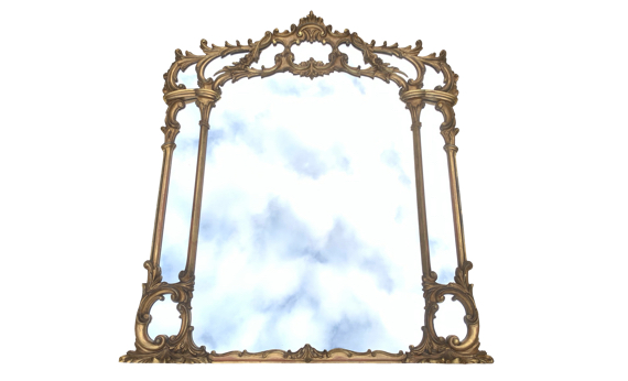 Antique Victorian Giltwood Overmantel Mirror