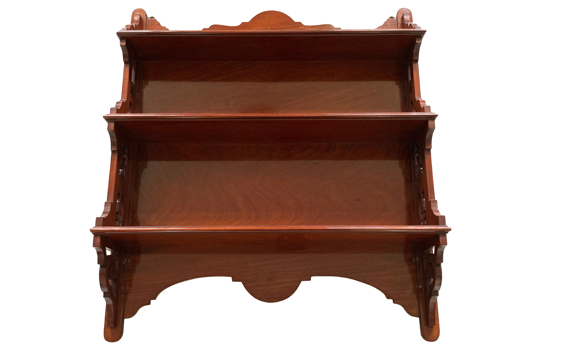 Antique Victorian Solid Mahogany Wall Shelves