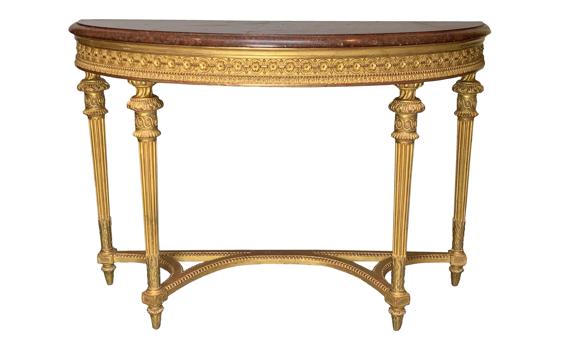 Napoleon III Giltwood Console Table
