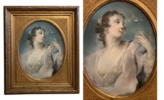 After Rosalba Carriera 'Air' Pastel Portrait