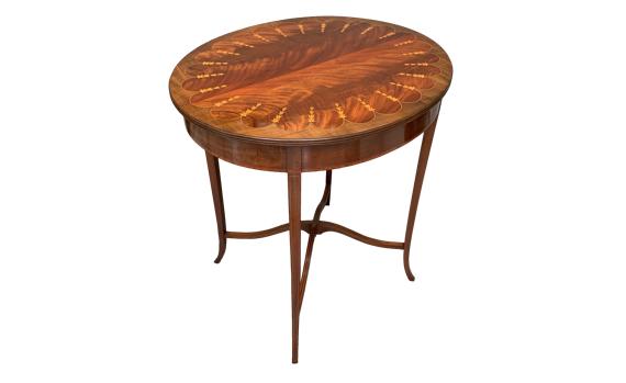Antique Edwardian Mahogany Inlaid Side Table