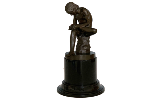 Antique Grand Tour Bronze Spinario Boy with Thorn