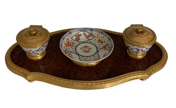 Antique French Desk Stand Encrier by Appay Paris
