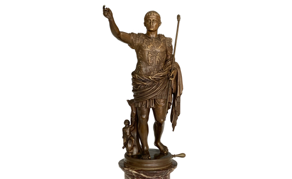 Antique Grand Tour Bronze Augustus Caesar