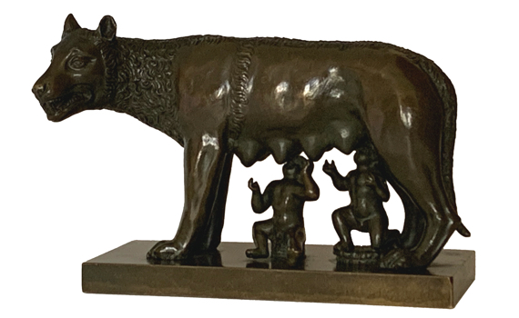 Antique Grand Tour Bronze of the Capitoline Wolf