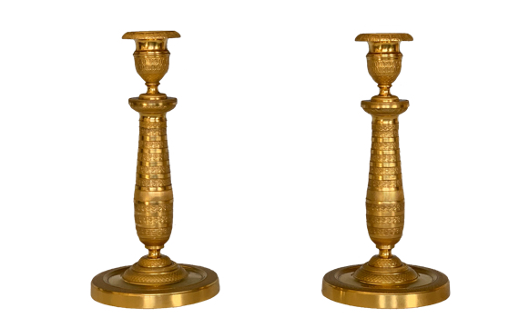 Antique Charles X Ormolu Candlesticks