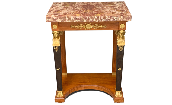 Antique French Empire Style Satinwood Pier/Console Table