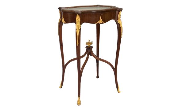 Antique Edwardian Mahogany & Ormolu Display Table