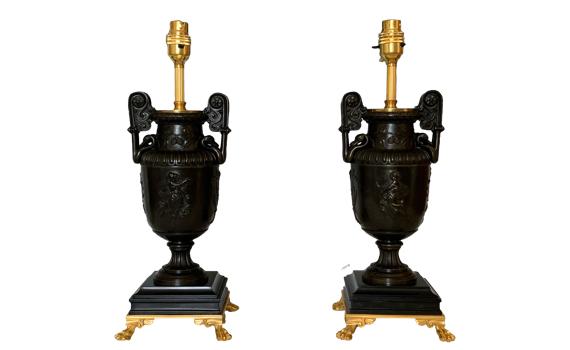 Antique Bronze Vase Table Lamps