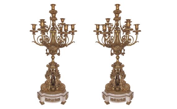 Antique Louis XVI Style Ormolu Candelabra
