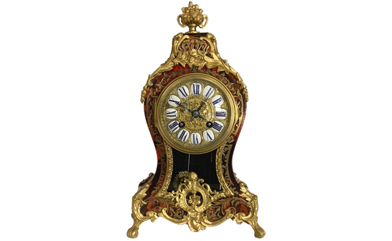 French Louis XV Style Boulle Clock