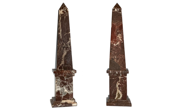 Grand Tour Style Marble Obelisks