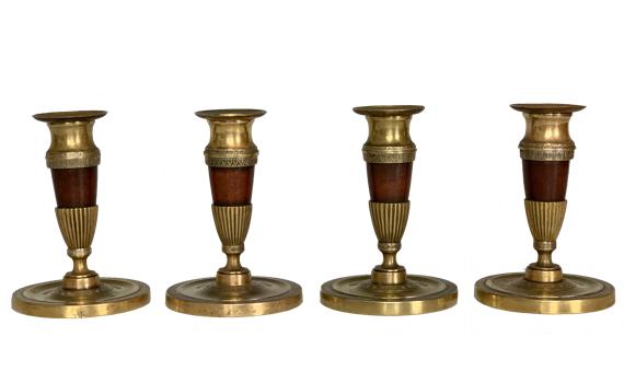 Antique Set of Four Regency Candlesticks