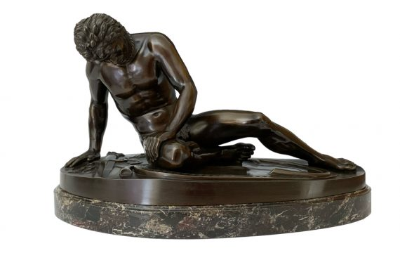 Antique French Grand Tour Bronze Dying Gaul